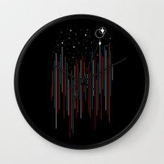 Through The Cosmic Rays Wall Clock
