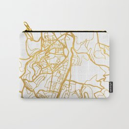 JERUSALEM ISRAEL PALESTINE CITY STREET MAP ART Carry-All Pouch