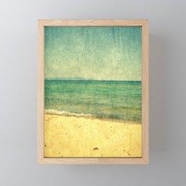 Seascape Vertical Abstract Framed Mini Art Print