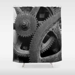 Big Gears Shower Curtain