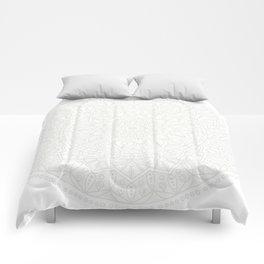Cream on White Mandala Circle of Life Comforters