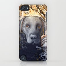 Rudy ... Abstract dog art, Black Labrador iPod touch Slim Case