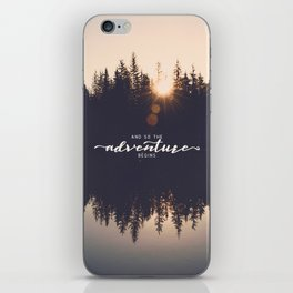 And So the Adventure Begins II iPhone Skin