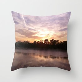 Sunrise at Shiloh Throw Pillow