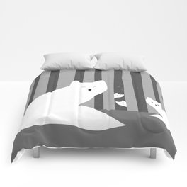White foxes Comforters