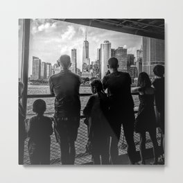 Family Photographs Freedom Tower from the Staten Island Ferry Metal Print