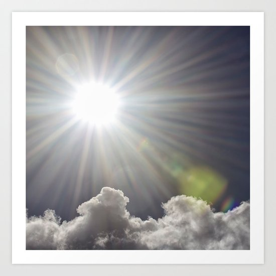 Lens flare sunflash Art Print