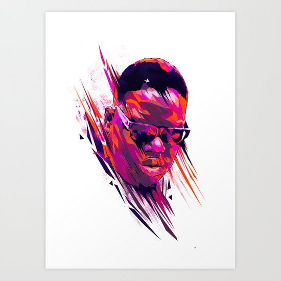 The Notorious B.I.G: Dead Rappers Serie Art Print