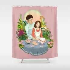 We Make a Cute Couple Shower Curtain