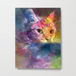Cat Hidden Power Metal Print