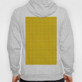 Yellow Grid Black Line Hoody