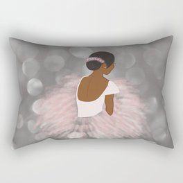 African American Ballerina Dancer Rectangular Pillow