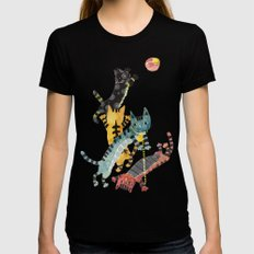 Cats Womens Fitted Tee Black LARGE