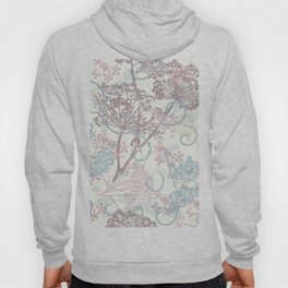 Spring morning field. Abstract floral pattern Hoody