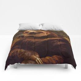 Mona Lisa Sloth - Original Artwork available in Poster. Comforters
