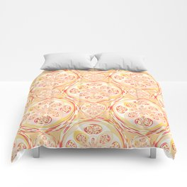 Geometric pizza pattern Comforters