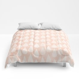 Big Drops Blush Coral Comforters