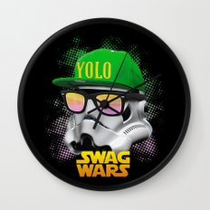 Stormtrooper Swag Wall Clock