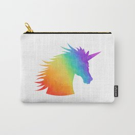 Rainbow Unicorn Silhouette Carry-All Pouch