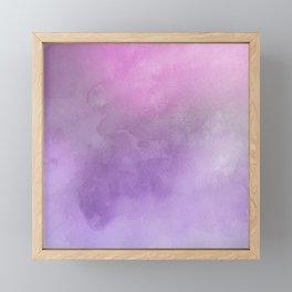 Pink Purple Watercolor Pastel Framed Mini Art Print