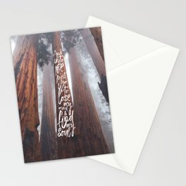 John Muir-And Into The Forest I Go To Lose My Mind And Find My Soul Stationery Cards
