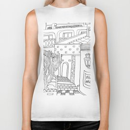 The Terrace And Place Of Olé - Drawing Biker Tank