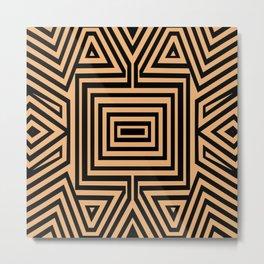 African Geometric Tribal Pattern 2 Metal Print