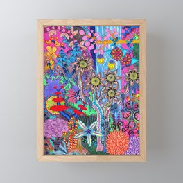 Abstract Forest Framed Mini Art Print