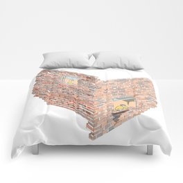 2 dimensions of separation - brick neighbour lovers Comforters