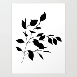 Black Leaves Art Print