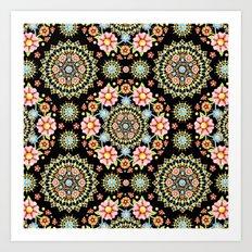 Flower Crown Fiesta Art Print