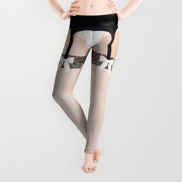 Lingeramas - Sexy French Maid Lingerie Legging Pajamas Leggings