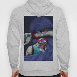Hidden Mosaic Abstract Woman Hoody