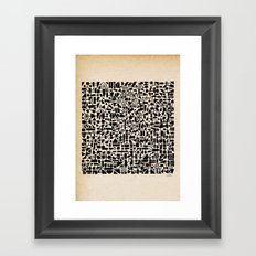 - micro - Framed Art Print