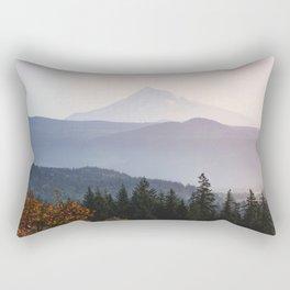 Mount Hood over the Columbia River Gorge Rectangular Pillow