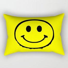 smiley face rave music logo Rectangular Pillow
