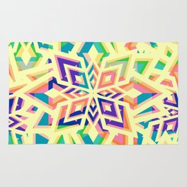 Decorative floral pattern for Christmas Rug