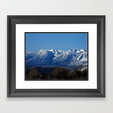 View of the Sierra Nevada Framed Art Print