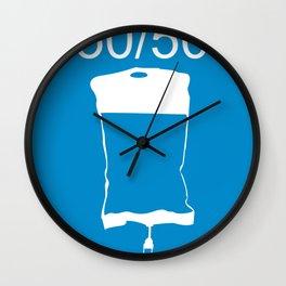 Minimalist 50/50 Wall Clock