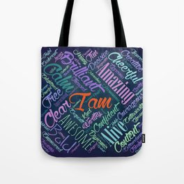 I am Affirmations Word Cloud Art Tote Bag