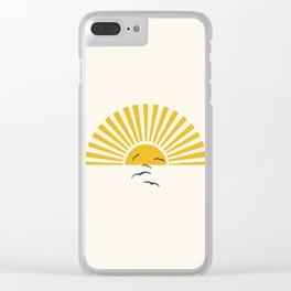 Minimalistic Summer I Clear iPhone Case