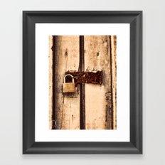The Lock Framed Art Print
