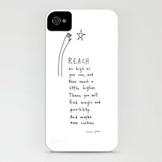 reach as high as you can iPhone (4, 4s) Slim Case