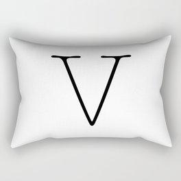 Letter V Typewriting Rectangular Pillow