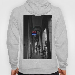 Bar Tabacchi in Bologna Black and White Color Splash Photography Hoody