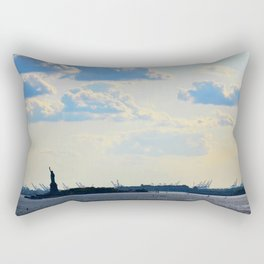 Silhouette Lady Rectangular Pillow