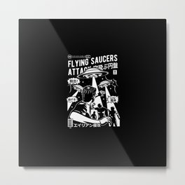 Flying saucers attack   ovni   ufo Metal Print