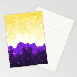 Nonbinary Pride Flag Galaxy Stationery Cards