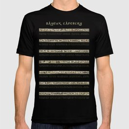Bayeux Tapestry on cream - Full scenes and description T-shirt