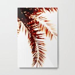 Caramel Abstract Palms Metal Print